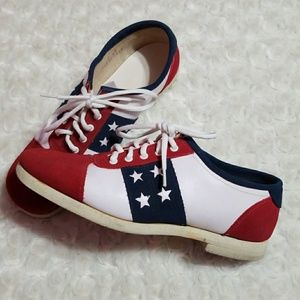 Shoes - Vintage American Flag Oxford Shoes